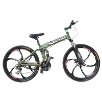 耐嘛 悍马26寸折叠一体轮24速禧玛诺双碟刹自行车 路虎品质