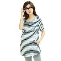 慈颜 短袖孕妇上衣T恤条纹 孕妇装时尚夏装韩版孕妇T恤FF548