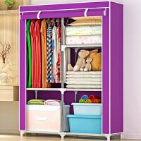 蜗家布衣柜 加固钢架简易衣柜 加厚时尚布衣厨  防尘防潮简易柜子储物柜组合衣柜 1401