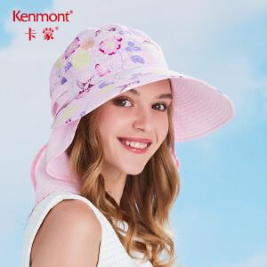 卡蒙女帽子夏季防紫外线大沿帽遮脸太阳帽透气护脖可折叠骑行盆帽3434