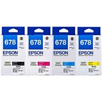 爱普生原装 EPSON 678墨盒 T6781黑色 T6782青色 T6783洋红色 T6784黄色 爱普生EPSON WorKForce Pro WP-4011 WP-4511 WP-4521 WP-4531打印机墨盒
