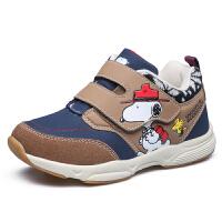 史努比童鞋新品男童机能鞋二棉保暖宝宝鞋中小童机能鞋