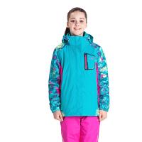 camkids小骆驼童装 女童冬装外套儿童户外两件套冲锋衣 加厚加绒户外运动服576332