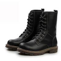 冬季保暖棉鞋男士加绒马丁靴工装鞋英伦皮靴子男靴加棉短靴情侣靴潮靴男