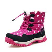 camkids小骆驼童鞋 儿童靴子 女童保暖加绒高帮学生防滑加厚中筒靴486240 棉鞋