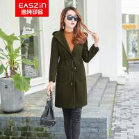 逸纯印品(EASZin)双面呢羊毛大衣 2016秋冬新款羊毛外套双面呢大衣女中长款