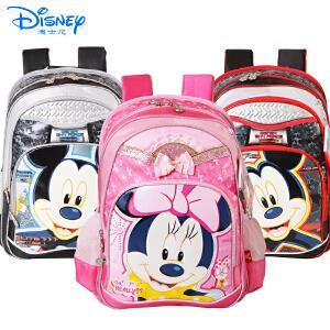 迪士尼卡通小学生书包1-4年级米奇男女童透气双肩背包MB0312
