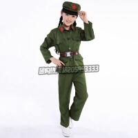 六一成人八路军演出服红军抗战服装小兵服饰军装表演衣服男女款