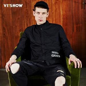 viishow2017春季新品男装立领夹克修身纯棉街头jacket外套