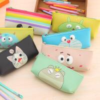 韩版萌眼笔袋 可爱防水手拿文具袋 卡通立体笔盒