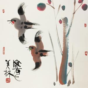 韩美林《报喜》国家一级美术师