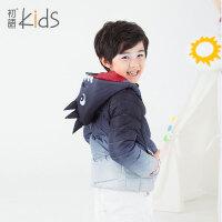 初语童装儿童羽绒服短款2016冬装新款男童羽绒服内胆加厚轻薄外套