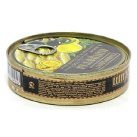 橄榄油浸熏鲱鱼罐头 160g  Шпроты Главпродукт в масле 160г