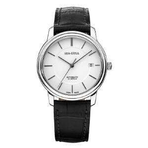 海鸥表(SEA-GULL)手表 男士商务腕表 自动机械表 真皮表带男款M201S