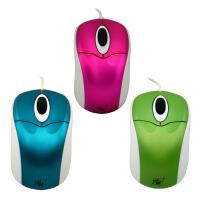 力胜 OP-208 有线USB电脑笔记本多彩时尚女士小鼠标 线长60CM