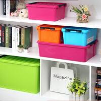 炫彩整理箱 收纳箱 塑料 百纳箱 床底收纳箱 车载整理箱 绿色