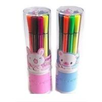 爱好12色苗条筒装水彩笔儿童绘画涂鸦可水洗套装画笔1661-12  单筒价格