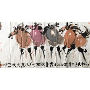 韩美林《四马图》中国当代天才造型艺术家