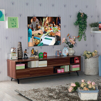 尚满 简约现代时尚电视柜电 环保田园客厅液晶电视机柜 小户型电视储物柜带抽屉