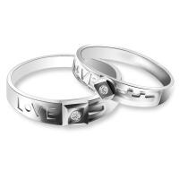 梦克拉 唯有爱 PT950钻石对戒 情侣戒 铂金对戒 求婚戒男戒女戒 创意礼品