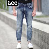 Lee男装 2017春夏新款水洗猫须长款牛仔裤男L 15707 Z025DE