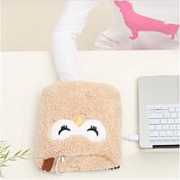 伊暖儿 新品USB至尊型护腕暖手鼠标垫电暖发热鼠标垫-米色猫头鹰