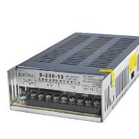 伊莱科 开关电源S-250-12 单组输出12V 监控安防 250W开关电源