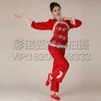 2016喜庆秧歌服装成人中国结红灯笼舞蹈表演服女款民族演出服