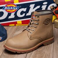 Dickies男鞋夏季新款英伦工装靴男真皮厚底短靴高帮男靴子潮靴男143XG05AP07