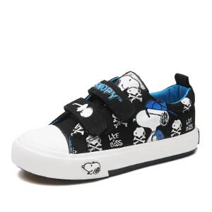 史努比童鞋低帮男童帆布鞋秋季新款男童板鞋宝宝布鞋学步鞋卡通