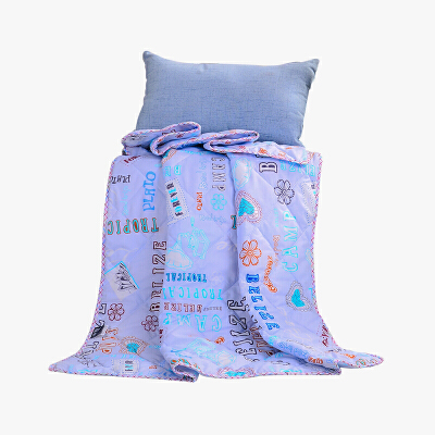 当当优品家纺 可水洗印花夏凉被 110x150单人空调被 自由情怀蓝当当自营 柔软透气 水洗机洗不变形