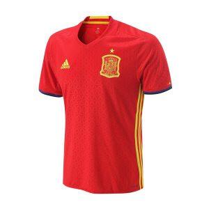 adidas阿迪达斯男装短袖T恤西班牙主场运动服AI4411