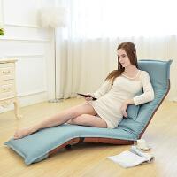 东木懒人沙发布艺单人沙发椅创意折叠休闲沙发床躺椅简易小沙发日式榻榻米椅子小户型飘窗沙发凳