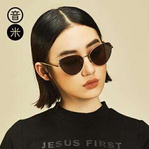音米新款时尚猫眼墨镜女潮2016个性太阳镜女司机复古眼镜女潮人 AASAJY203