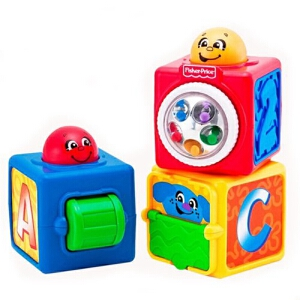 Fisher Price 费雪 益智玩具 叠叠方积木
