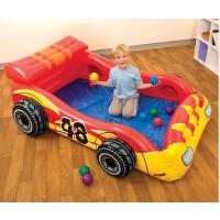 INTEX�I赛车球池 充气玩具 儿童海洋球池 送气垫+彩球
