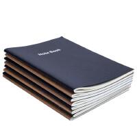 (5本装)广博文具16K60页牛皮纸记事本子 笔记本 练习本办公本子