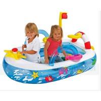 INTEX迷你趣味船球池 充气玩具 儿童海洋球池 送海洋球