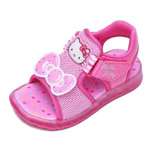 HELLO KITTY童鞋女童公主鞋新款儿童网框鞋透气沙滩鞋