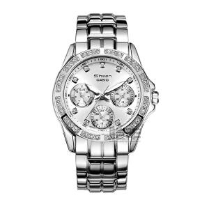 卡西欧(CASIO)SHEEN系列女士手表时尚钢带女士手表SHN-3013D-7A
