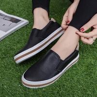 匡王2017夏季新款帆布鞋女韩版学生懒人鞋子平底板鞋一脚蹬小白鞋女鞋
