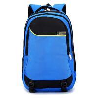 自然鱼 新款4-6年级中小学生书包减负双肩背学生纯色简约旅行背包