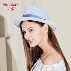卡蒙帽子女夏天时尚百搭小礼帽出游草帽显瘦欧美风爵士帽逛街潮帽3468