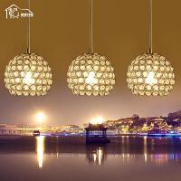 祺家   现代简约LED吊灯优雅透明水晶吊灯餐厅灯ID14