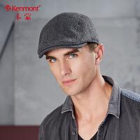 男士帽子冬季中年羊毛呢户外保暖前进帽复古韩版休闲可调节鸭舌帽2498