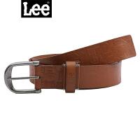 Lee男式腰带L16192L01C3D00M黄褐色男士皮带真皮皮带