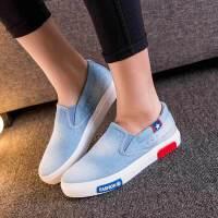 匡王2017夏季新款韩版休闲鞋女牛仔一脚蹬懒人鞋女学生单鞋运动鞋板鞋