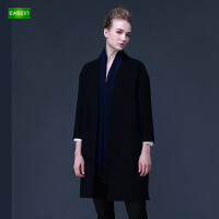逸纯印品(EASZin)女装 毛呢大衣女高端2016秋冬双面呢时尚呢大衣韩版中长款风衣羊毛