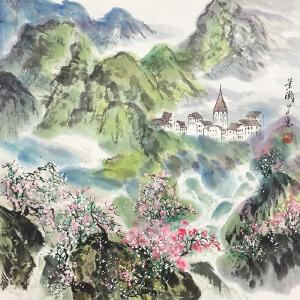 萧瀚《锦绣山川》著名画家