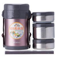 泰福高304不锈钢保温饭盒3层学生 双层成人真空保温桶三层T-0042